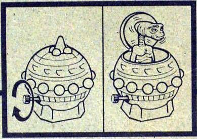 E.T. - LJN Ref 1244 - Pop up Spaceship Wind up Mint on Card