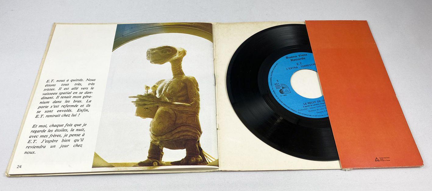 E.T. - Record-Book Mini LP - Gertie\'s narrative (according to the Movie\'s original version  with Drew Barrymore) -  Ades 1982
