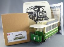 ETS 56 0 Gauge Tin Reims France Electric Tram N°5 Green & White Livery Mint in Box