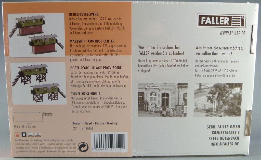Faller 120112 Ho Sncf Poste Aiguillage Provisoire 2 Possibilité Montage Neuf Boite cellophanée
