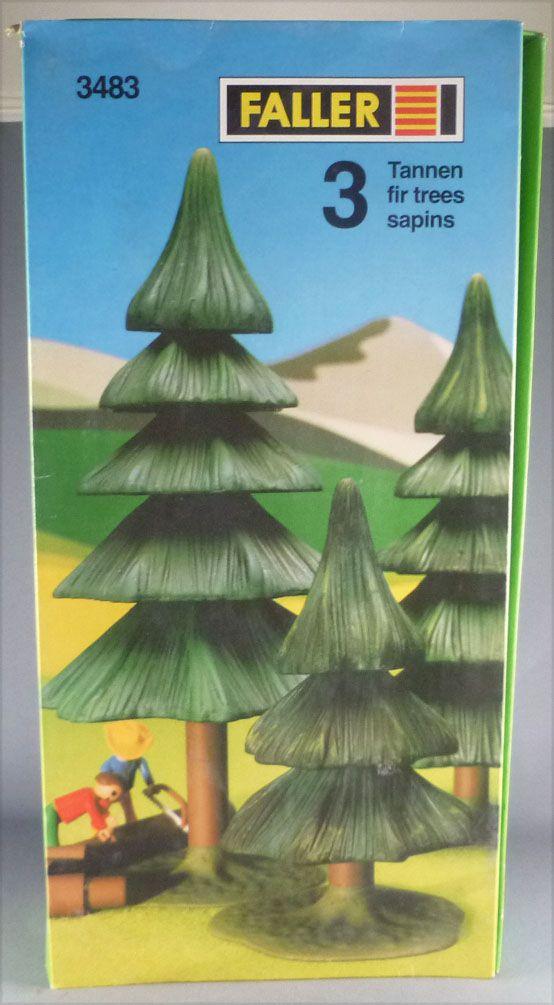 Faller 3483 3 Fir Trees Mint in Box Playland Autoland E-Train Playtrain