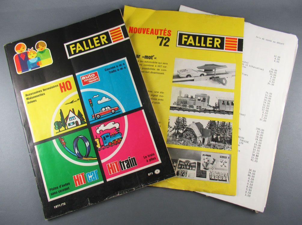 Faller 871F Catalogue 1971/72 Circuits AMS Trains Ech Ho Hit Train Hit Car + Tarifs