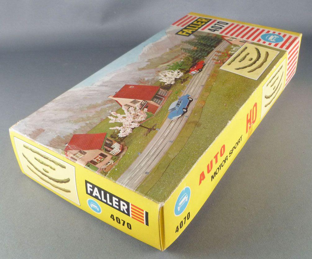 Faller AMS 4070 - Talus Bordures Droits & Courbes Vert Pistes Circuit Neuf Boite