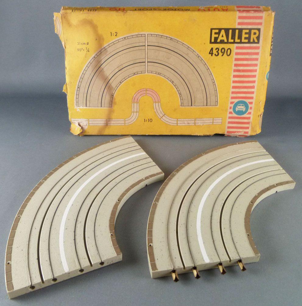 Faller AMS 4390 - 2 Virages 90° Piste Circuit Boite 2