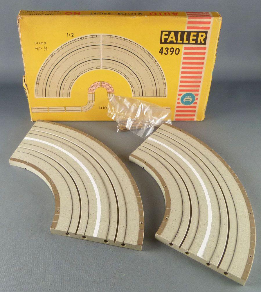 Faller AMS 4390 - 2 Virages 90° Piste Circuit Neuf Boite 1