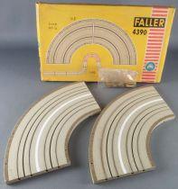 Faller AMS 4390 - 2 Virages 90° Piste Circuit Neuf Boite 2