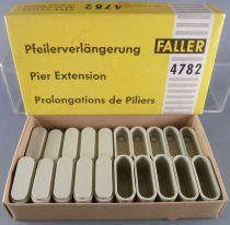 Faller AMS 4782 - 20 Prolongations de Piliers Gris 2 hauteurs Neuf Boite 1