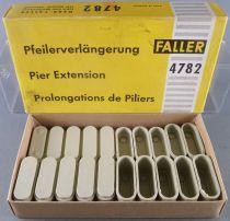 Faller AMS 4782 - 20 Prolongations de Piliers Gris 2 hauteurs Neuf Boite 2