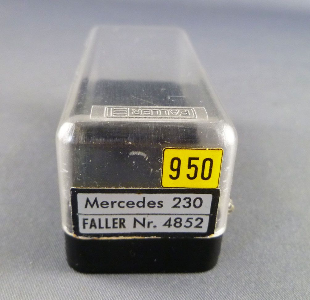 Faller AMS 4852 - Cream Convertible Black Roof Mercedes 230S with Original Box