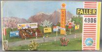 Faller AMS 4906 - Tribunes Tour Shell Panneaux Pub Départ Arrivée Boite