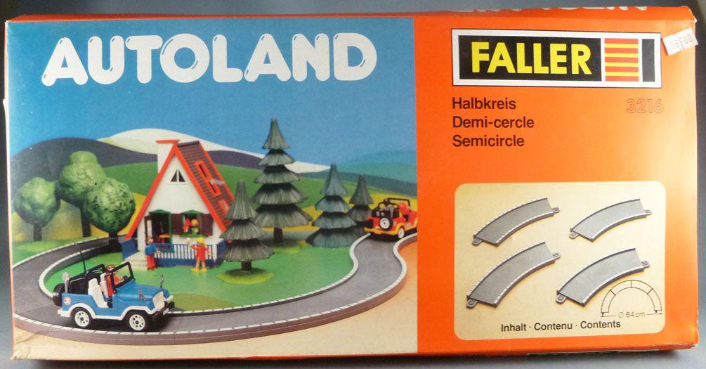 Faller Autoland 3216 4 Pistes Demi Cercle Neuve Boite Playland E-Train Playtrain