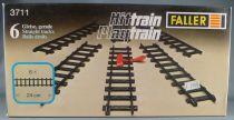 Faller Hittrain Playtrain 3711 6 Straight Tracks 24 cm Mint in Box Playland Autoland E-Train