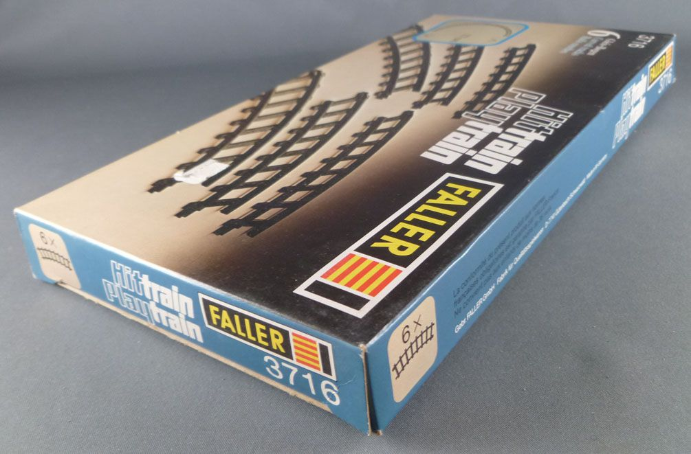 Faller Hittrain Playtrain 3716 6 Curved Tracks Mint in Box Playland Autoland E-Train