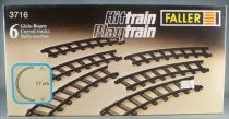 Faller Hittrain Playtrain 3716 6 Rails Courbes Neuf Boite Playland Autoland E-Train
