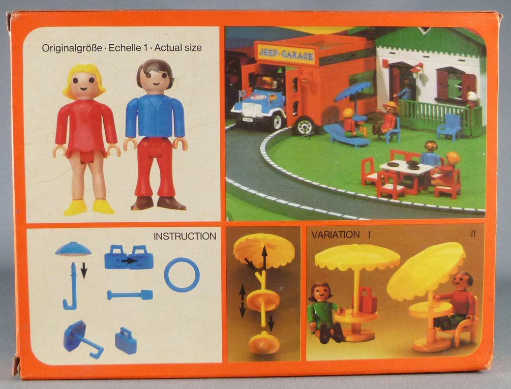 Faller Playland 3346 2 Action Figures with accessories Mint in Box Autoland E-Train Playtrain