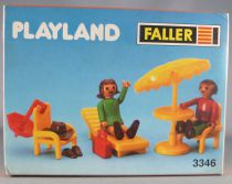 Faller Playland 3346 2 Figurines Articulée Table Parasol Neuf Boite Autoland E-Train Playtrain