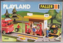 Faller Playland 3433 Gas Station Mint in Box Autoland E-Train Playtrain