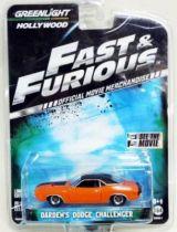Fast & Furious - Darden\'s Dodge Challenger (métal 1:64ème) Greenlight Hollywood