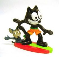 Felix the Cat - COMICS SPAIN Figure - Felix surf with a mouse