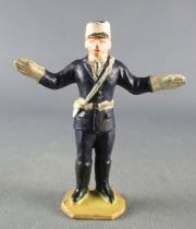 Figurine Plastique 48 mm - Agent Circulation Bras Tendus Police Policier TdF