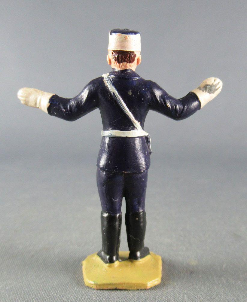 Figurine Plastique 50mm - Agent Circulation Bras Tendus Police Policier TdF