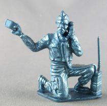 (Figurine Plastique Souple 60mm - WW2 - Radio Genoux (bleu)