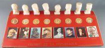 Figurine Publicitaire - Total - Les Gloires de la République - Collection Complète sur Présentoir
