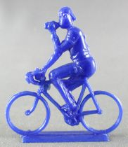 Figurine Publicitaire Café de Paris - Série Tour de France - Cycliste Buvant sa gourde (bleu)