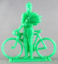 Figurine Publicitaire Café de Paris - Série Tour de France - Cycliste Vainqueur Bouquet (vert)