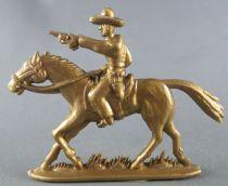 Figurine Publicitaire Café Mexciq - La Conquête de l\'Ouest - Cavalier Cow-boy tireur pistolet