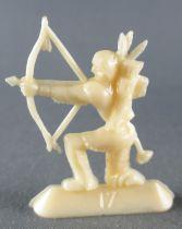 Figurine Publicitaire Café Nadi - Far-West - N°17 Indien Genoux Arc