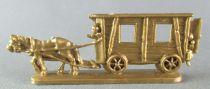 Figurine Publicitaire Chocolat L. Moreuil La locomotion à travers les âges Roulotte tzigane (doré)