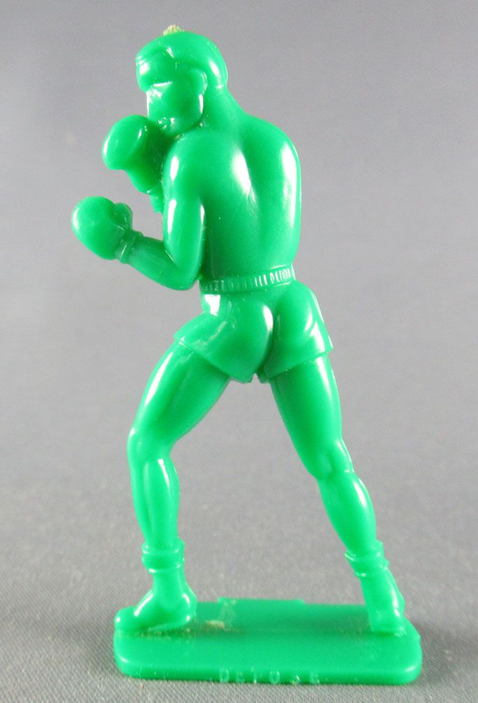 Figurine Publicitaire Eco (Produits Alimentaires) - Série Sports - Boxeur en Garde (vert)