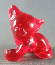 Figurine Publicitaire Goulet-Turpin - Animaux - Chat (rouge transparent)