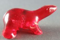 Figurine Publicitaire Goulet-Turpin - Animaux - Ours (rouge transparent)
