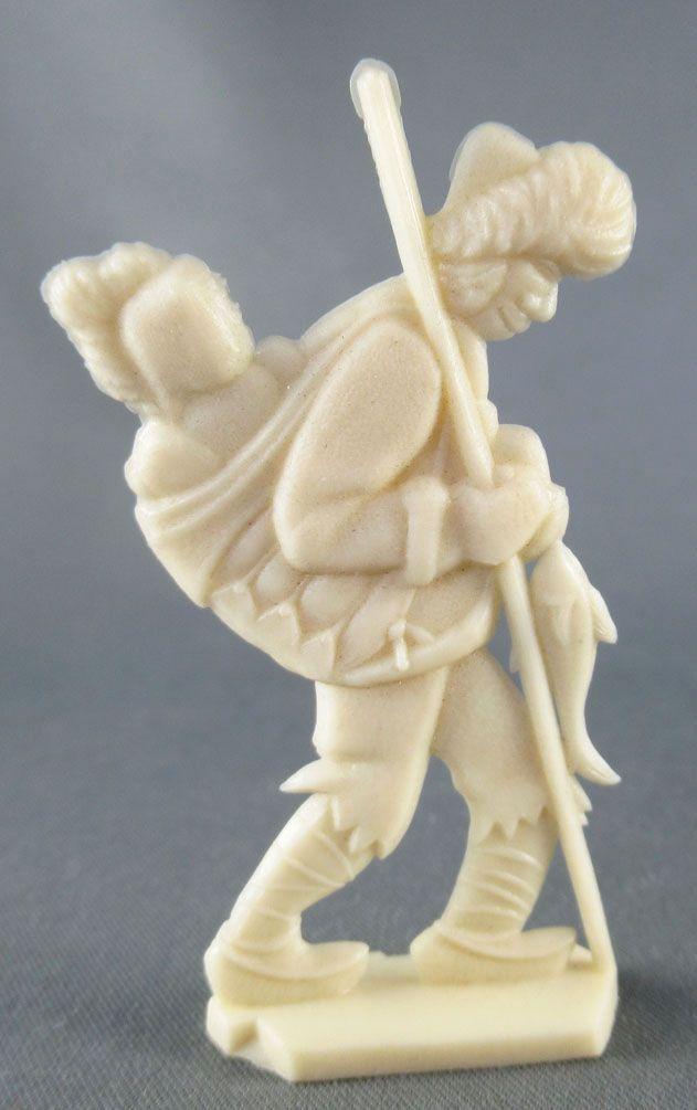 Figurine Publicitaire Heudebert - Le Grand Nord - N°12 Esquimau portant bébe sur le dos
