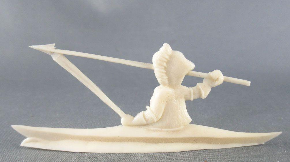 Figurine Publicitaire Heudebert - Le Grand Nord - N°14 Esquimau en canoé