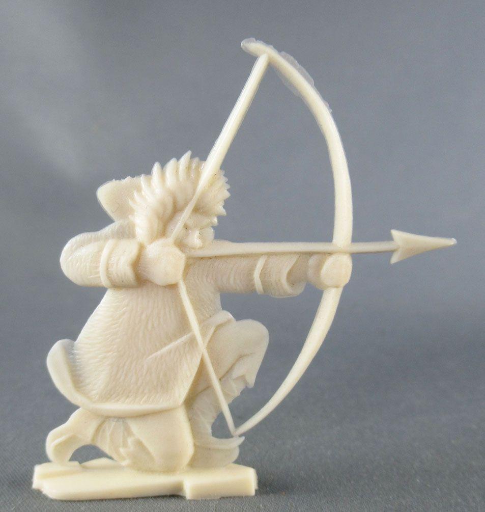 Figurine Publicitaire Heudebert - Le Grand Nord - N°4 Esquimau tireur à l\'arc