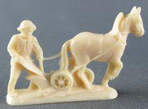 Figurine Publicitaire Le Baby l\'Aiglon - La Vie à la Campagne - Laboureur avec Charrue