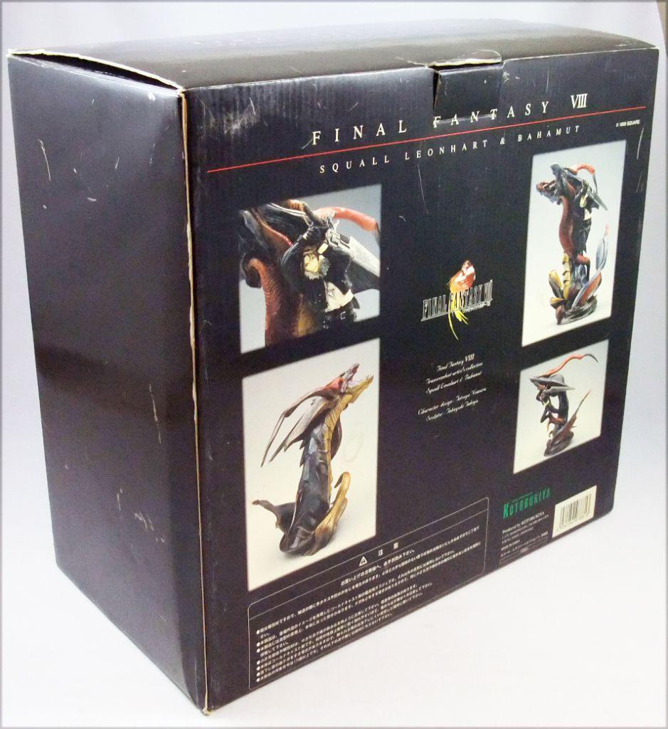 Final Fantasy VIII - Squall Leonhart & Bahamut - Cold-cast resin statue Kotobukiya Sqaure 1999
