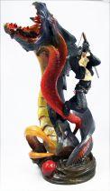 Final Fantasy VIII - Squall Leonhart & Bahamut - Statue en resine cold-cast Kotobukiya Square 1999