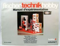 Fischertechnik - Manuel d\'Expérimentation Hobby 4 Volume 1