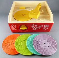 Fisher-Price 1971 - Electrophone Music Box Record Player Complet Fonctionne (Réf 995)