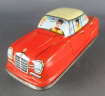 FJ (France Jouets) FJ 1960 Mercedes Orange Voiture Mécanique pour Circuit Autoroute