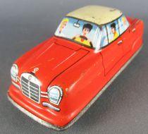 FJ (France Jouets) FJ 1960 Mercedes Orange Voiture Mécanique pour Circuit Traffic-Control