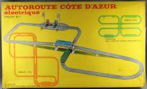 FJ France Jouets # 1042 Autoroute Cote d\'Azur Deluxe Set Electric Slot Car Buses Gaz Station