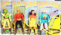 Flash Gordon - Complete set of 4 Mego 9\'\' figures (mint on card)
