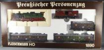 Fleischmann 1890 Coffret Train Prussien Loco Vapeur BR78 T18 3 Voitures 1 Fourgon Neuf Boite