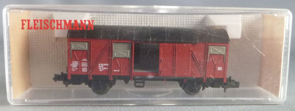 Fleischmann Piccolo 8330 N Scale Db Covered Wagon Gmhs 53 Sliding Doors Mint in Box