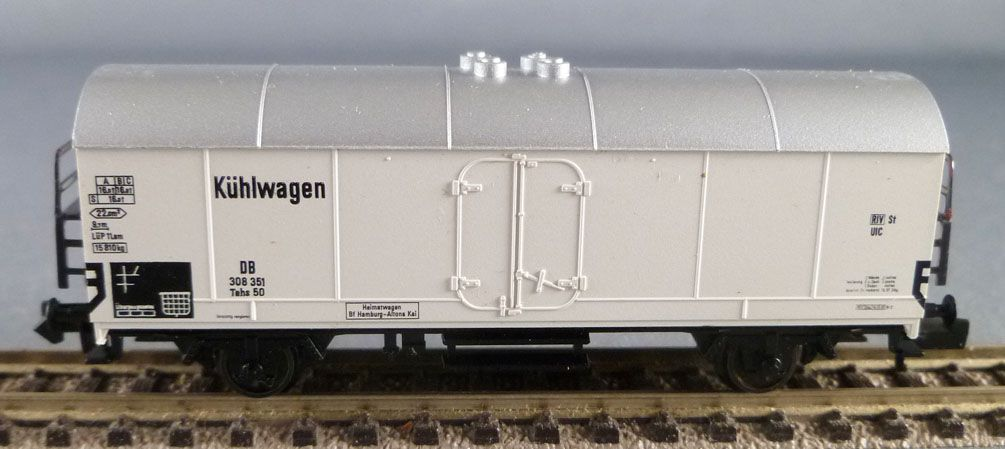 Fleischmann Piccolo 8344 K Ech N Db Wagon Frigorifique Tehs 50 Proche Neuf Boite